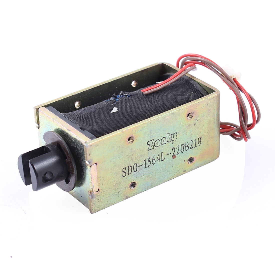 10mm/2Kg 15mm/1Kg 230.5W Power Wired Linear Motion Open Frame Pull Type Solenoid Electromagnet 220V