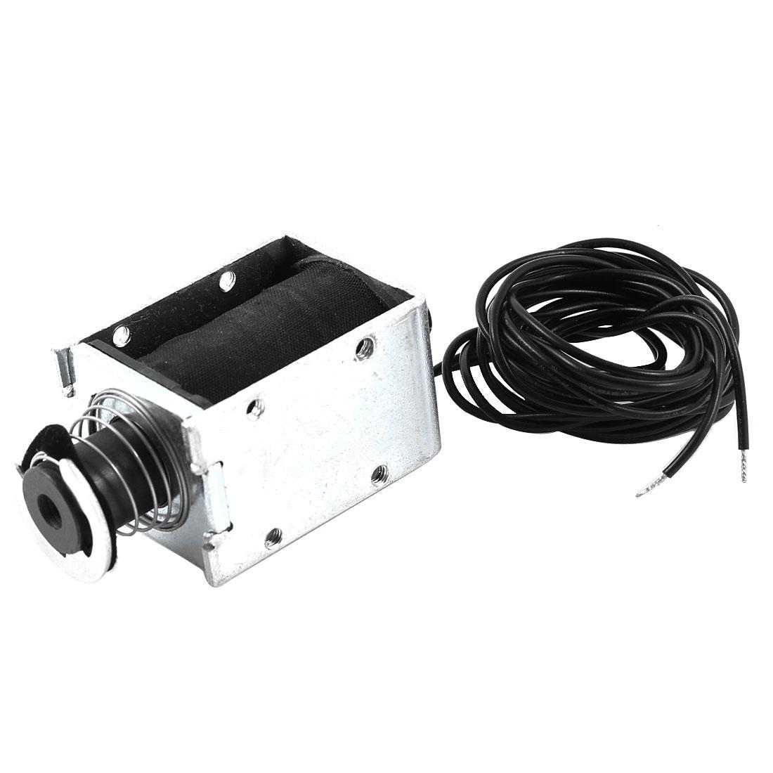 1mm/2Kg 15mm/0.1Kg 23.04W Open Frame Push Pull Type Solenoid Electromagnet DC 24V 0.96A