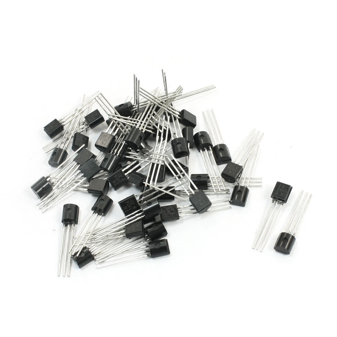 50pcs General Propose 2N3906 40V 200mA TO-92 Package PNP Transistor