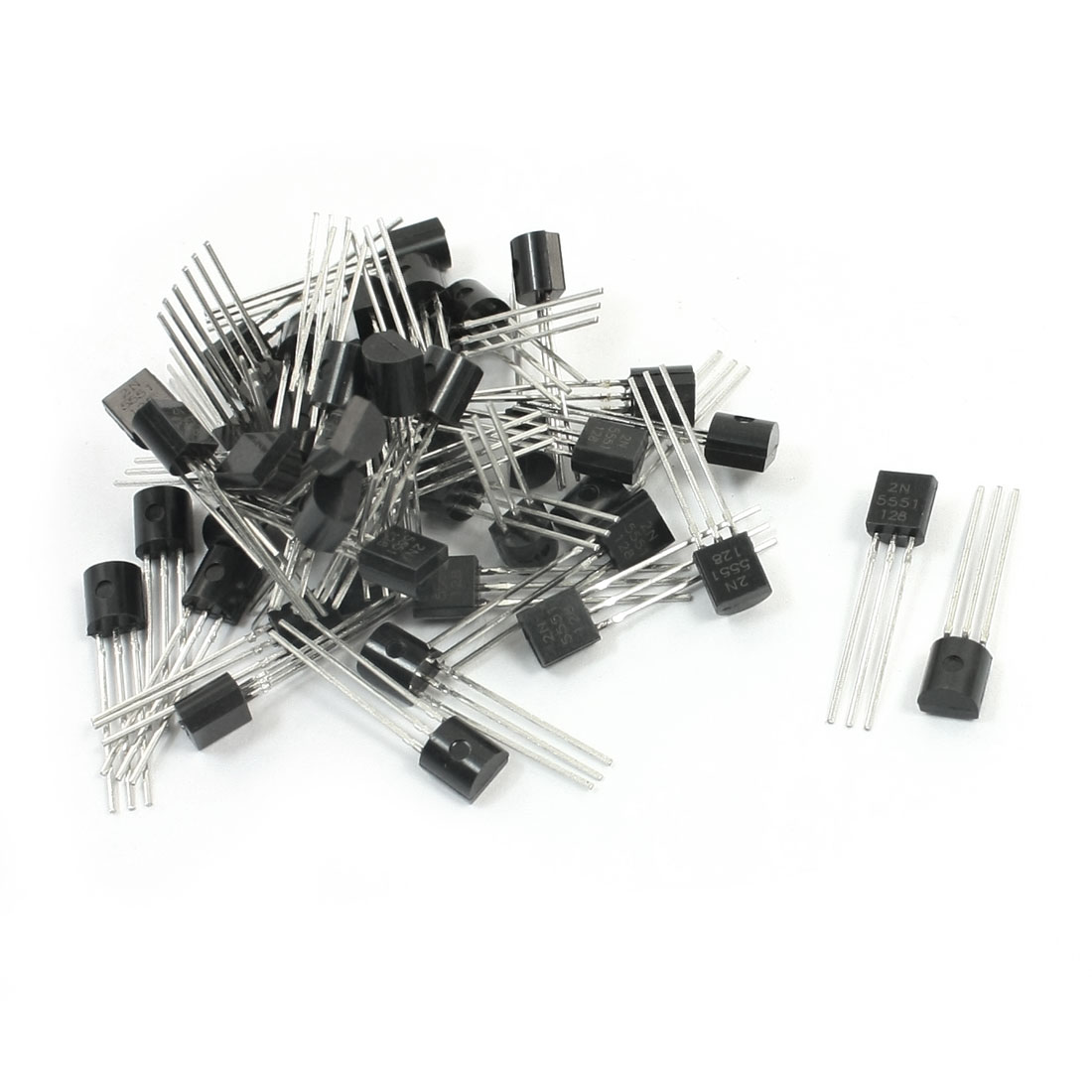 50pcs General Propose 2N5551 160V 600mA TO-92 Package NPN Transistor