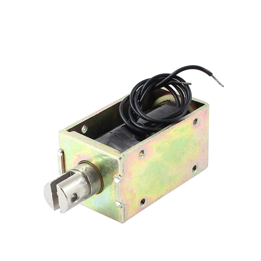1mm/2Kg 6mm/0.5Kg 6.39W Open Frame Pull Type Solenoid Electromagnet DC 24V 0.26A