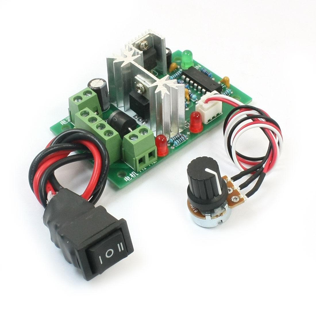DC10-30V 120W Max PWM Motor Speed Controller w Reversing Switch CCM2U6