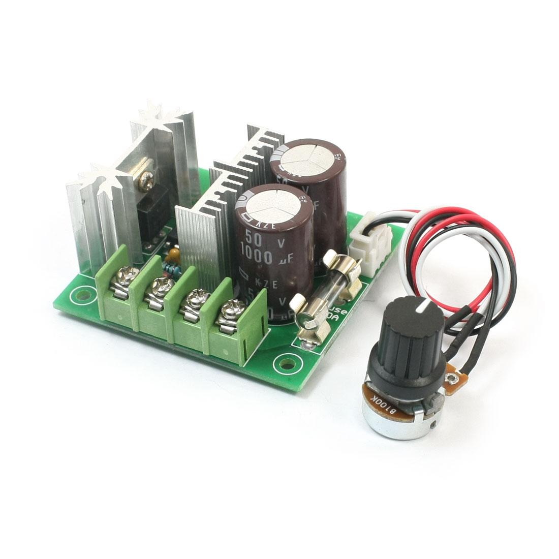 CCMHCW PWM Motor Speed Controller w External Control Knob DC12-40V 10A