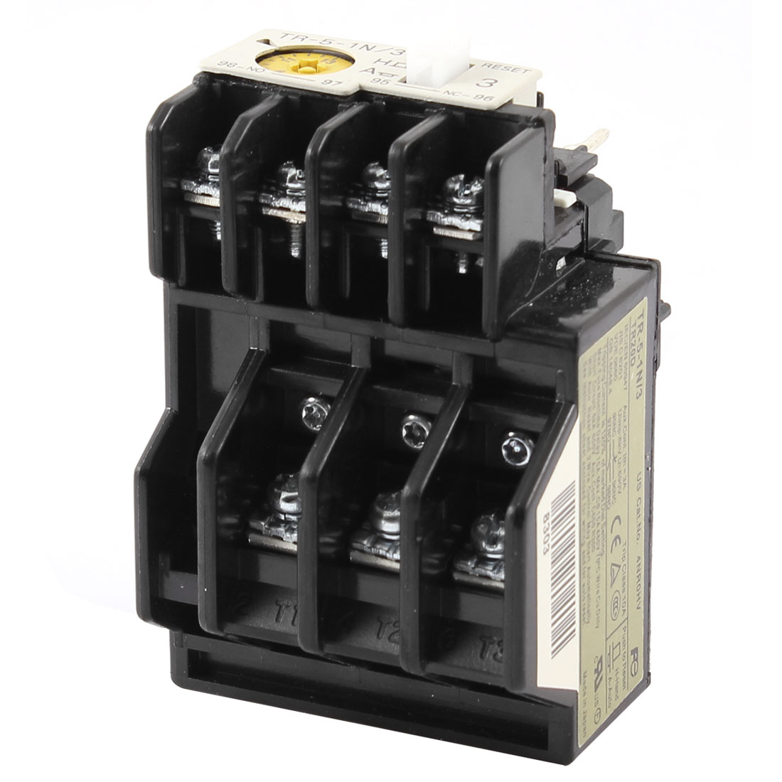 TR-5-1N/3 Ith 3A Uimp 6KV Ui 690V Adjustable 9A-13A 3 Pole Thermal Overload Relay 1NO 1NC