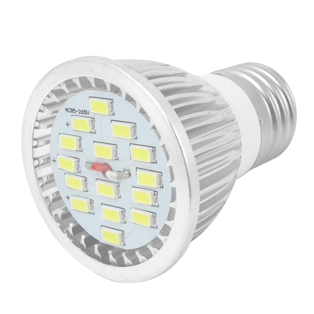 White 7W E27 Socket 5730 SMD 15-LED COB Spotlight Bulb Lamp AC85-265V