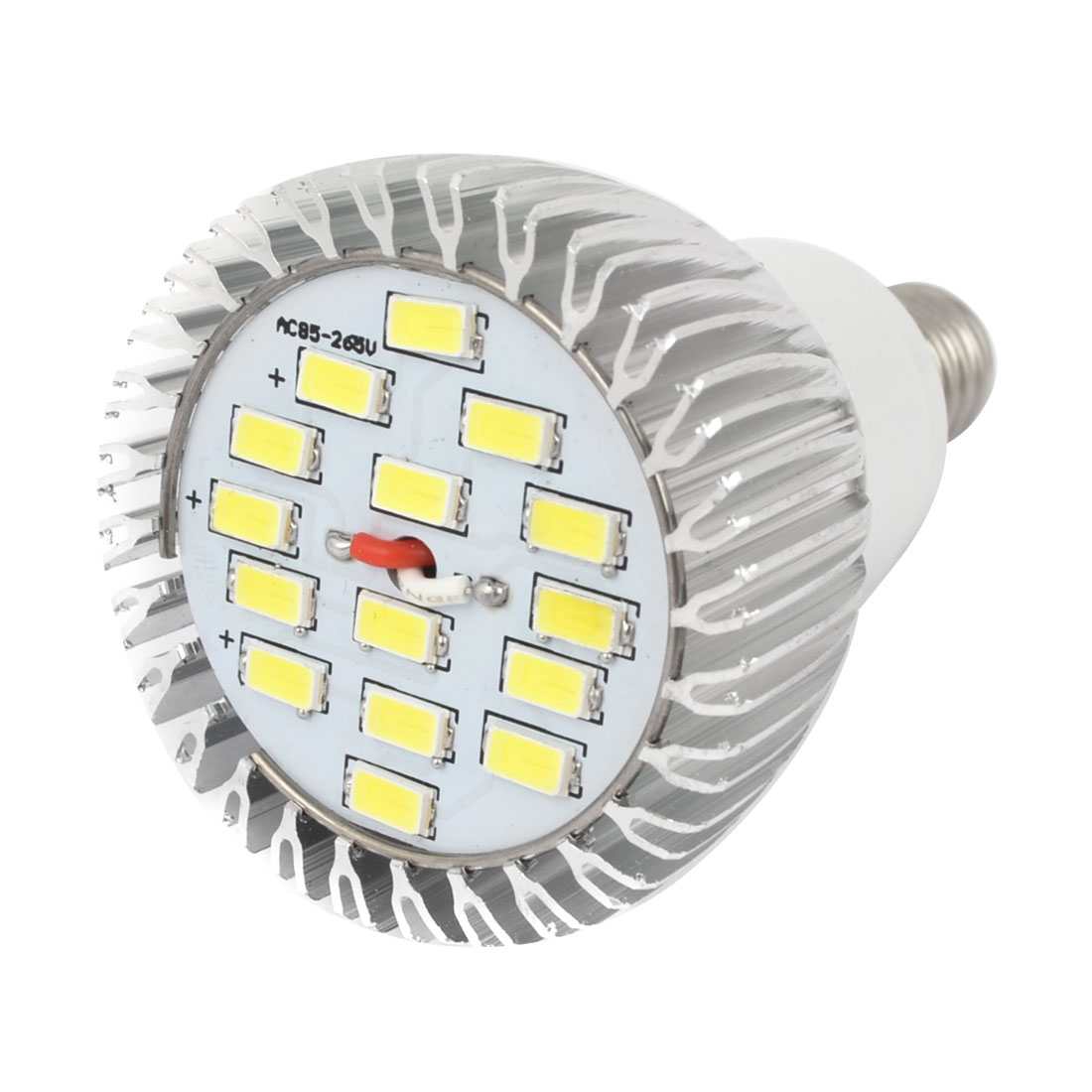 White 7W E14 Socket 5730 SMD 15-LED Spotlight Bulb Lamp AC 85-265V