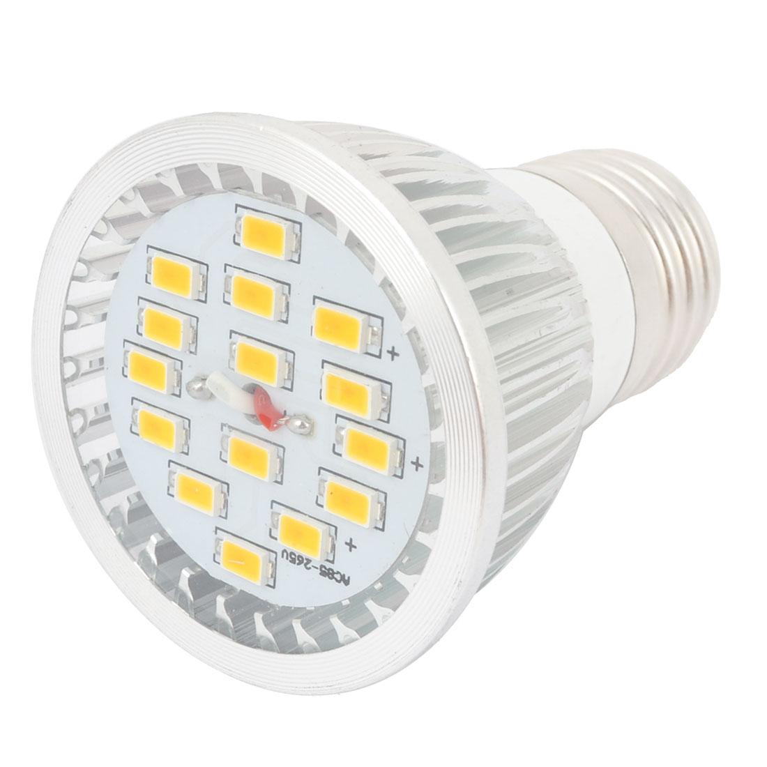 Warm White 7W E27 Socket 5730 SMD 15-LED COB Spotlight Bulb Lamp AC85-265V