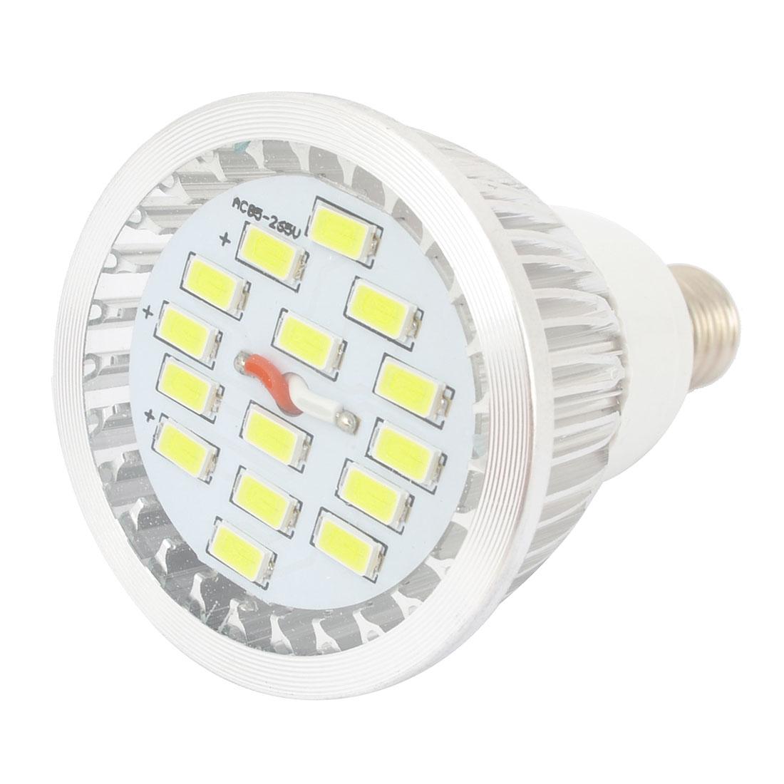 White 7W E14 5730 SMD 15 LEDs Globe Light Spotlight Bulb AC85-265V