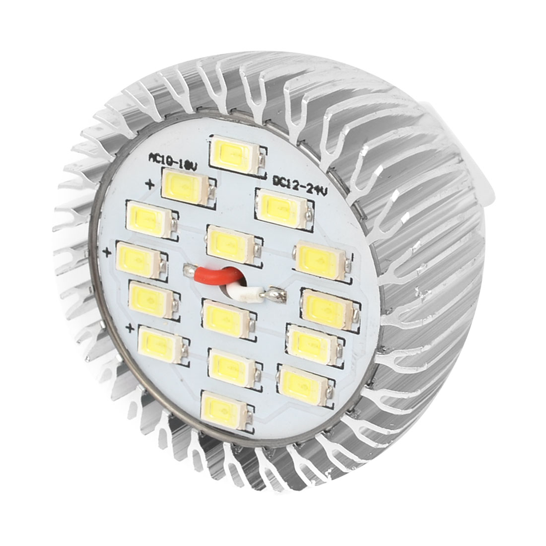White 7W MR16 Socket 5730 SMD 15-LED Spotlight Bulb Lamp AC 10-18V