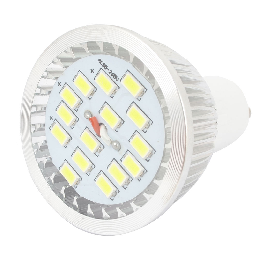 White 7W GU10 Socket 5730 SMD 15-LED COB Spotlight Bulb Lamp AC85-265V