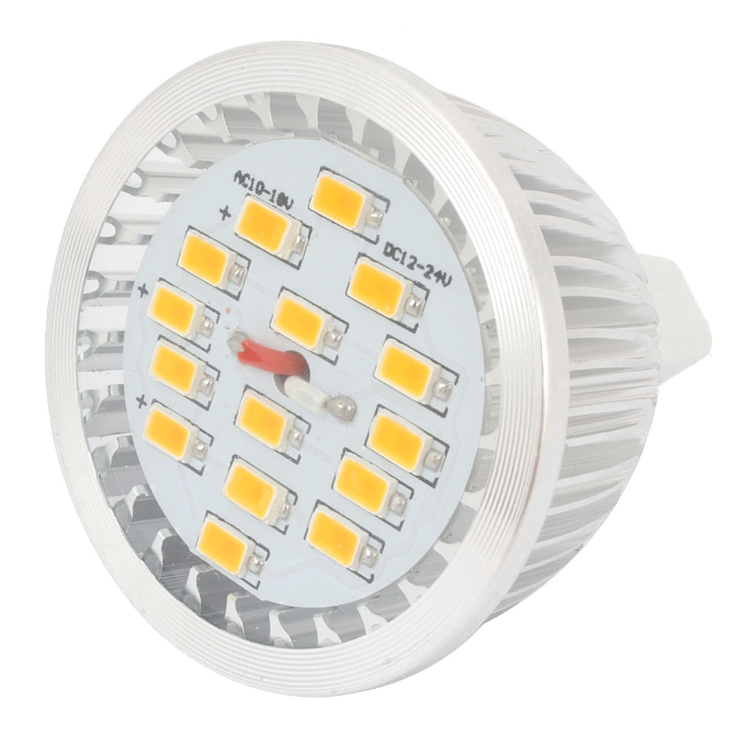 Warm White 7W MR16 Socket 5730 SMD 15-LED Spotlight Bulb Lamp AC 10-18V