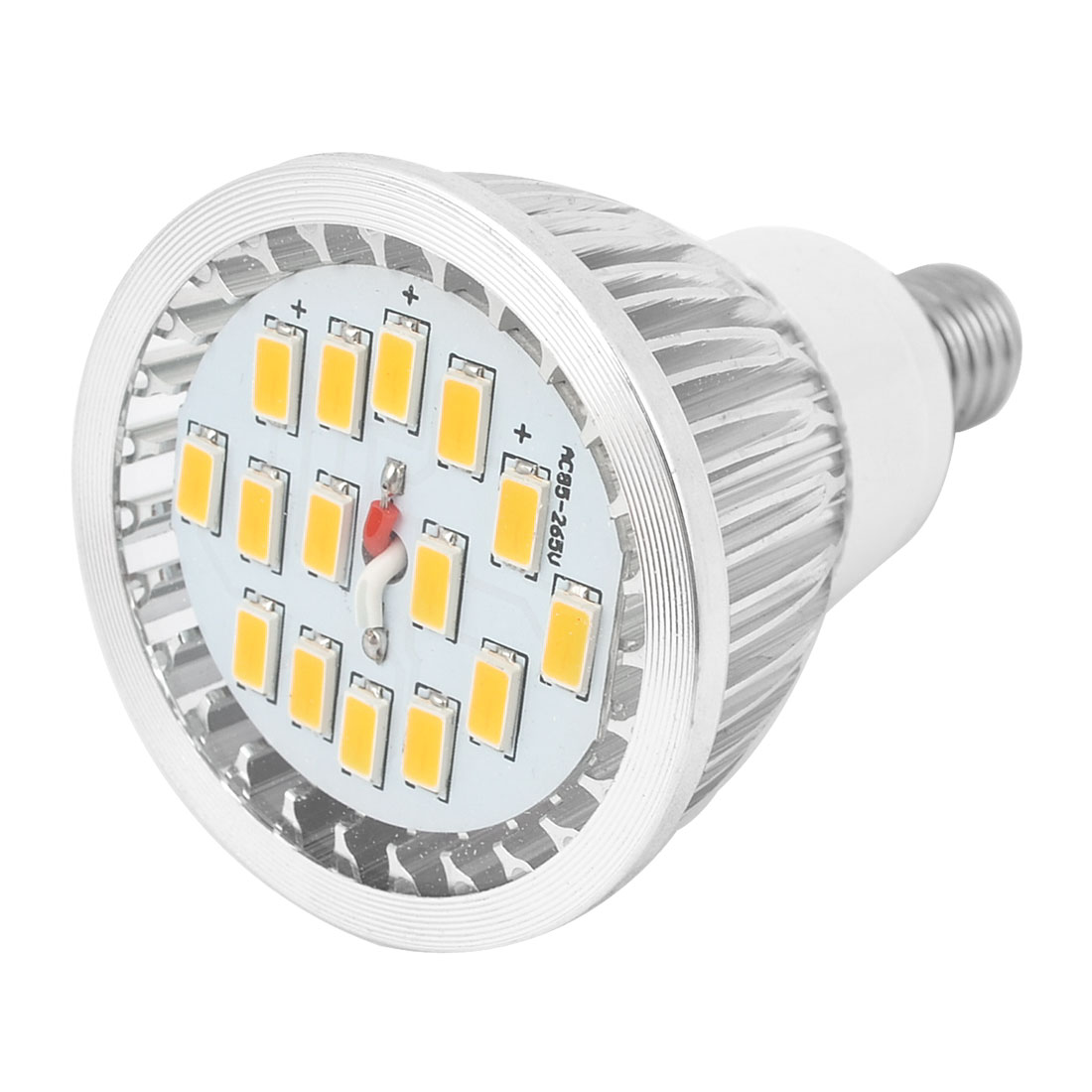Warm White 7W E14 5730 SMD 15 LEDs Globe Light Spotlight Bulb AC85-265V