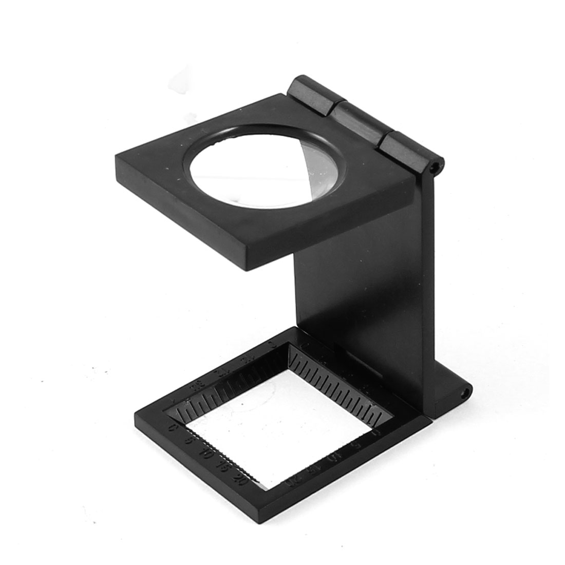 Portable Round 26mm Dia Lens Foldable Plastic Frame Handheld Magnifier Magnifying Glass Black