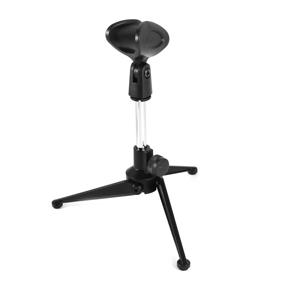 Plastic Tripod Base Angle Adjustable Desktop Mic Microphone Stand Holder Bracket