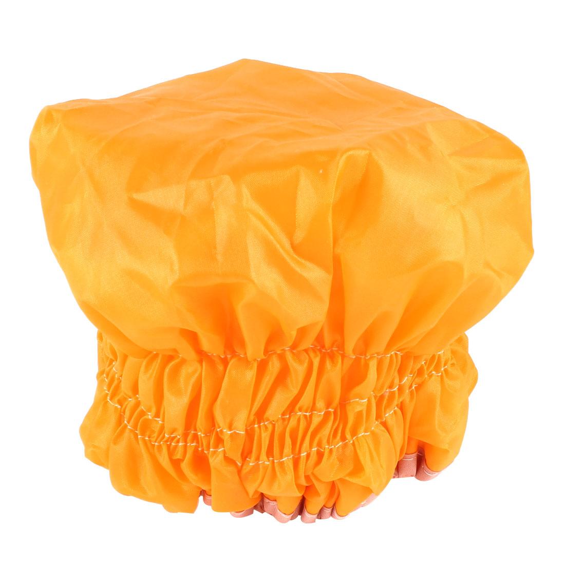 Lady Orange Waterproof Microfiber Lined Hair Drying Shower Cap