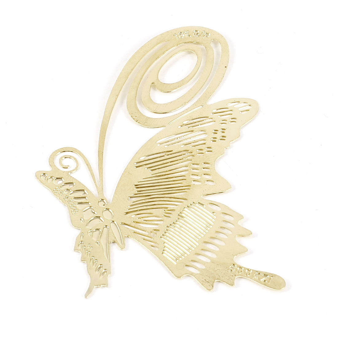 Gold Tone Students Reading Metal Butterfly Bookmark Page Holder Bookmarker
