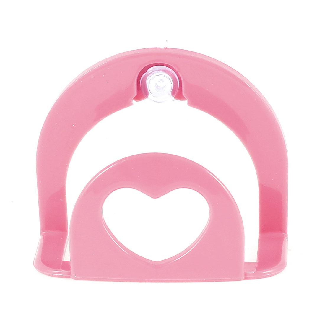 Home Bathroom Pink Plastic Wall Mounted Suction Up Sponge Holder Bracket