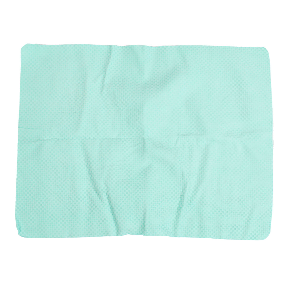 43cm x 32cm Green Retangle Synthetic Chamois Towel Cleaning Tool for Car Home
