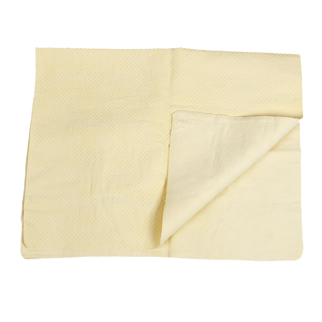 Yellow Furniture Car Glass Clean Retangle Cham Synthetic Chamois Water Absorb Towel 66 x 43cm