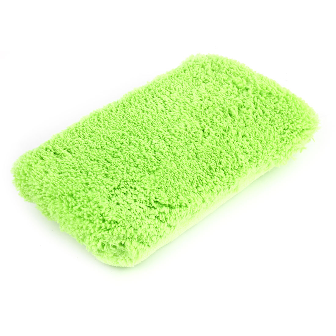 Car Vehicles 2 in 1 Washing Drying Microfiber Sponge Pad Cusion Green 10x19cm