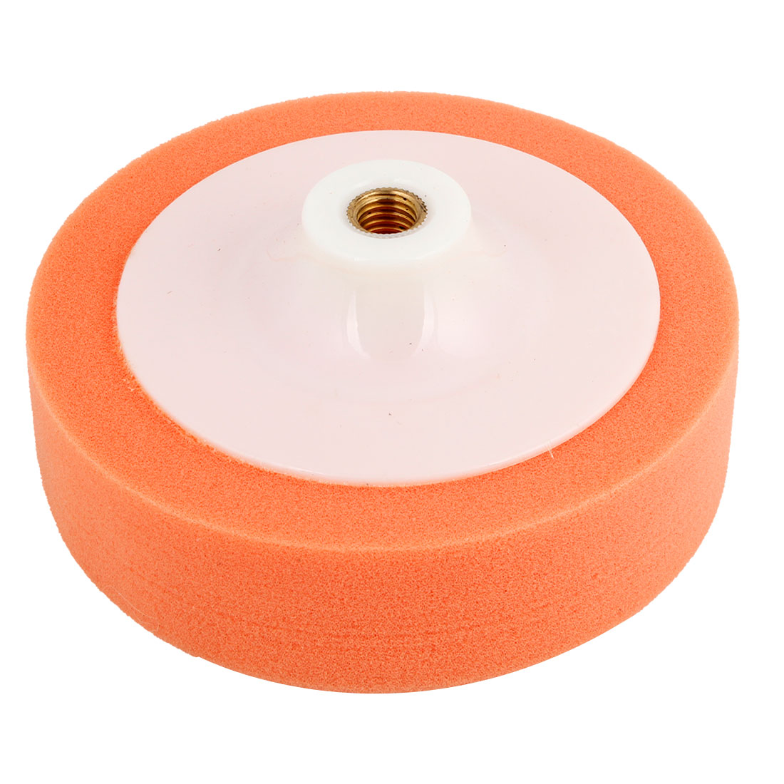 15cm Dia Orange Rounded Shape Soft Sponge Pad for Auto Car Wash Polishing