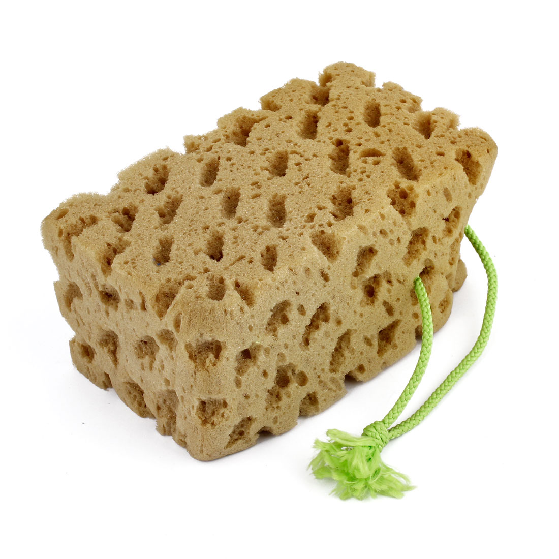 Retangle Shape Honeycomb Style Water Absorbent Auto Cleaning Wash Sponge Pad Brown