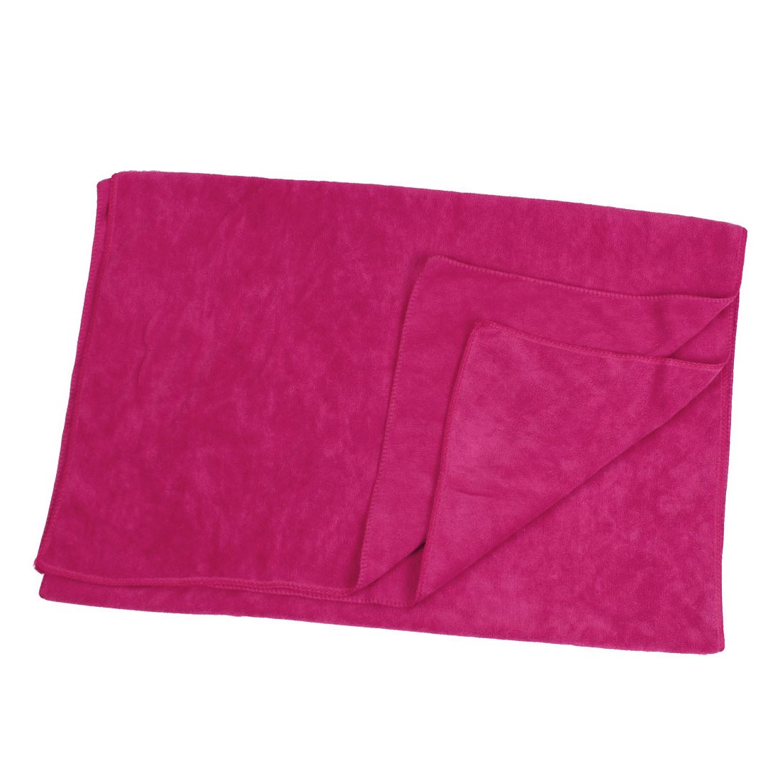 Fuchsia Rectangle Microfiber Cleaning Cloth Towel Cleaner 160cm x 65cm for Car Vehicle