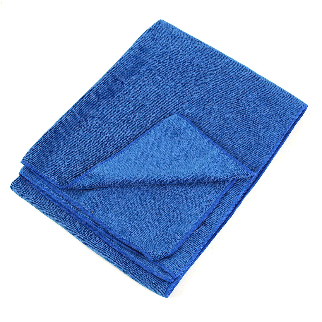 Rectangle 160x65cm Microfiber Cleaning Washing Cloth Towel Light Blue for Car Vehicle