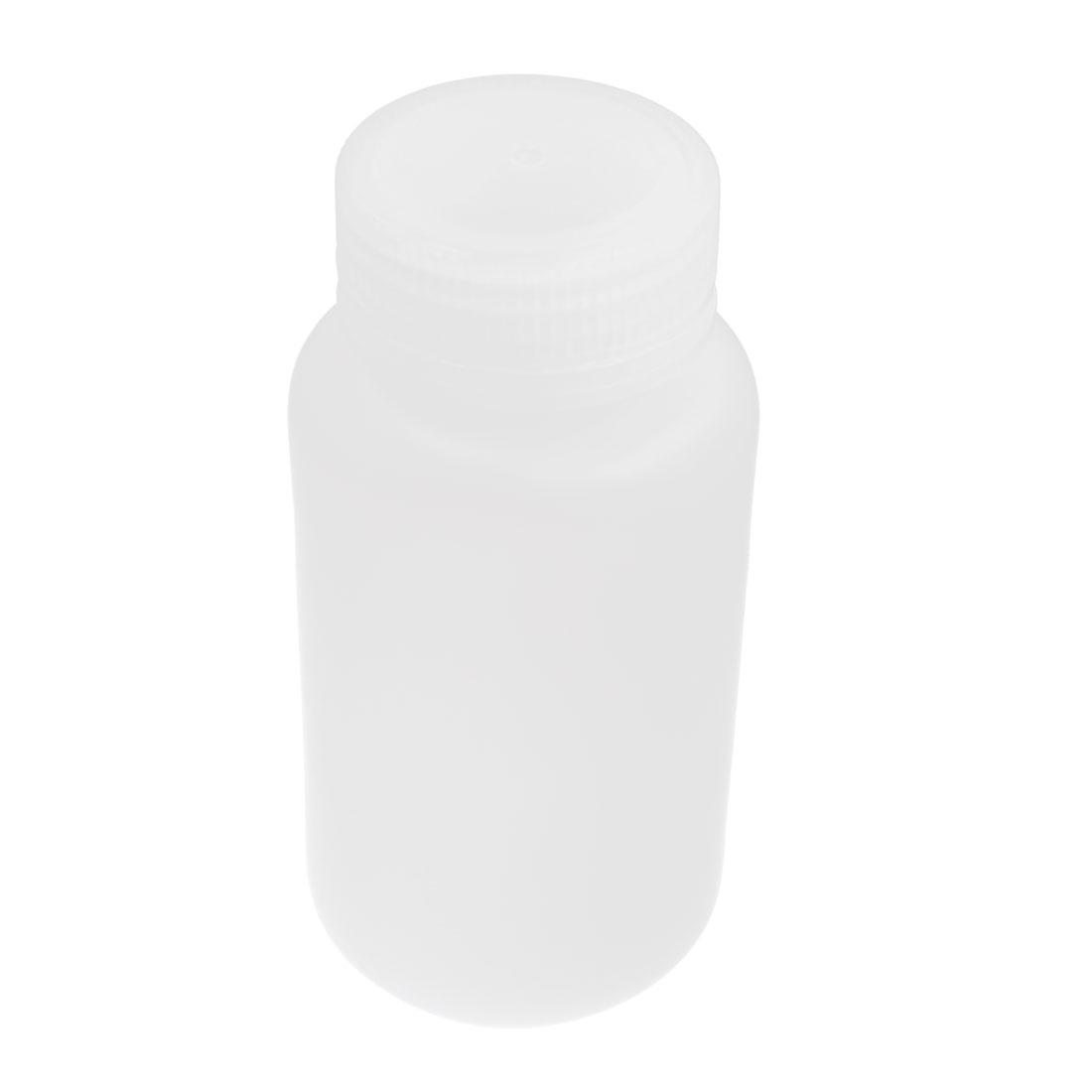 Plastic Screw Lid 250mL 8 oz Chemicals Storage Container White Plastic Reagent Bottle