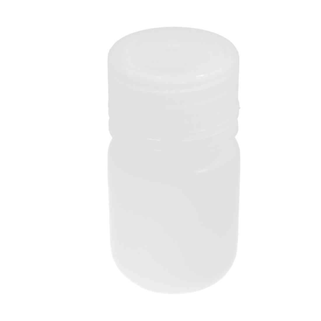 Plastic Screw Lid 30mL Chemicals Storage Container White Plastic Reagent Bottle 1 oz