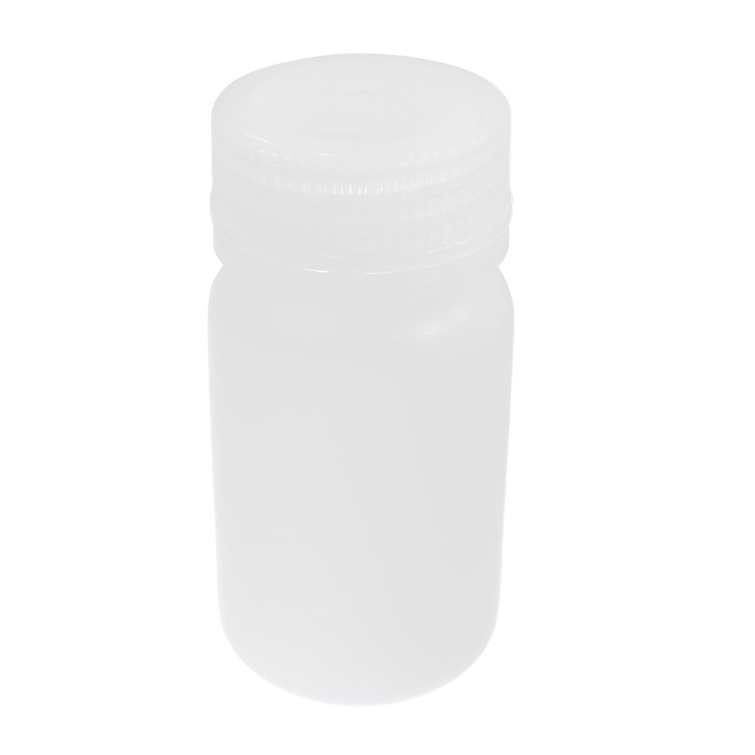Plastic Screw Lid 60mL 2 oz Chemicals Storage Container White Plastic Reagent Bottle