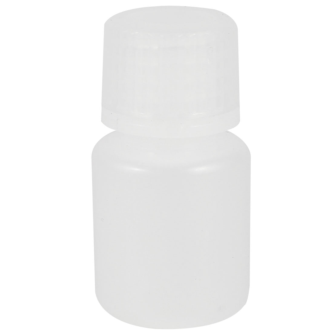 Plastic Screw Lid 15mL 0.5 oz Chemicals Storage Container White Plastic Reagent Bottle