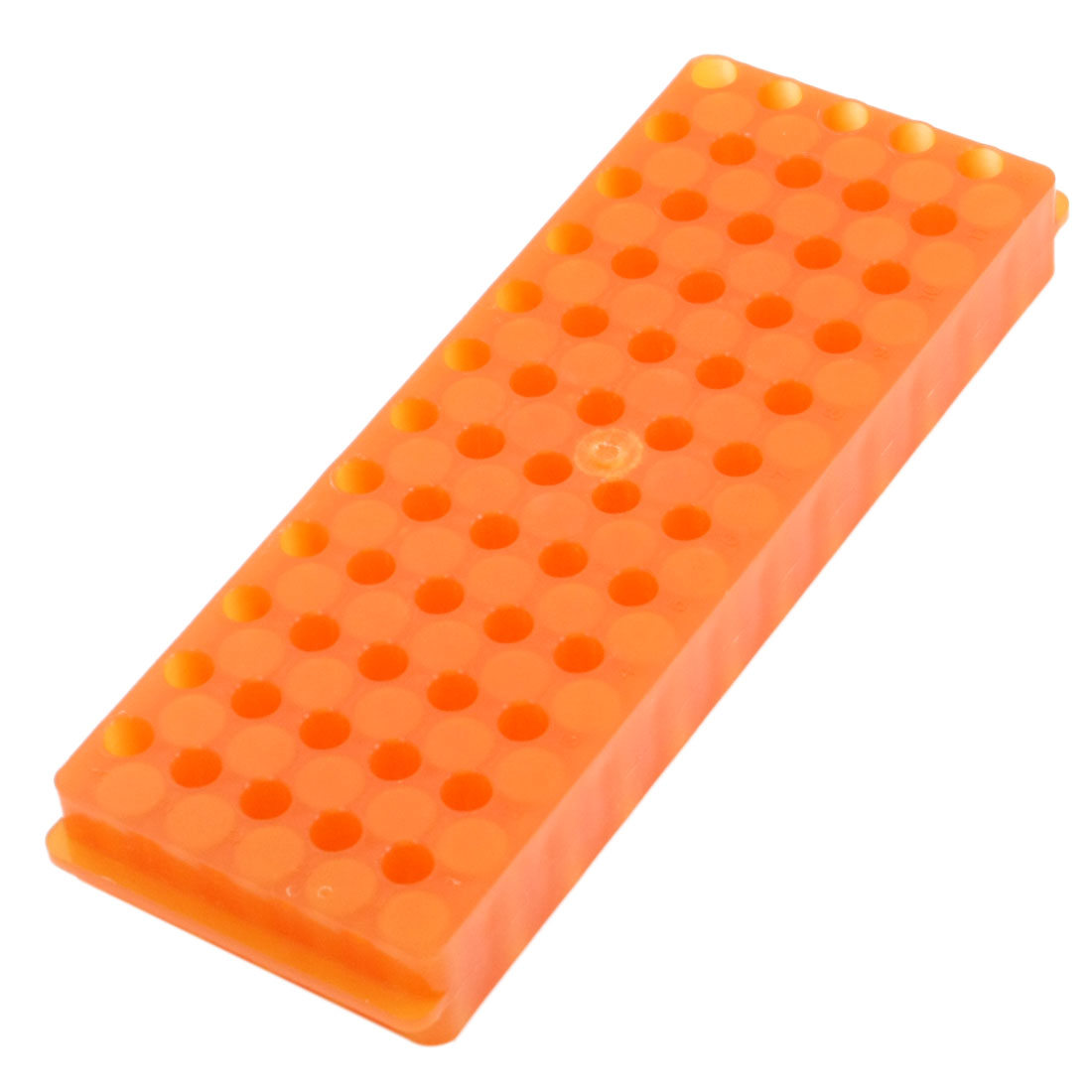 Orange Polypropylene Double Sided 0.5ml/1.5ml/2ml Centrifuge Tube Pipette Vial Holder Rack Stand 60 Positions