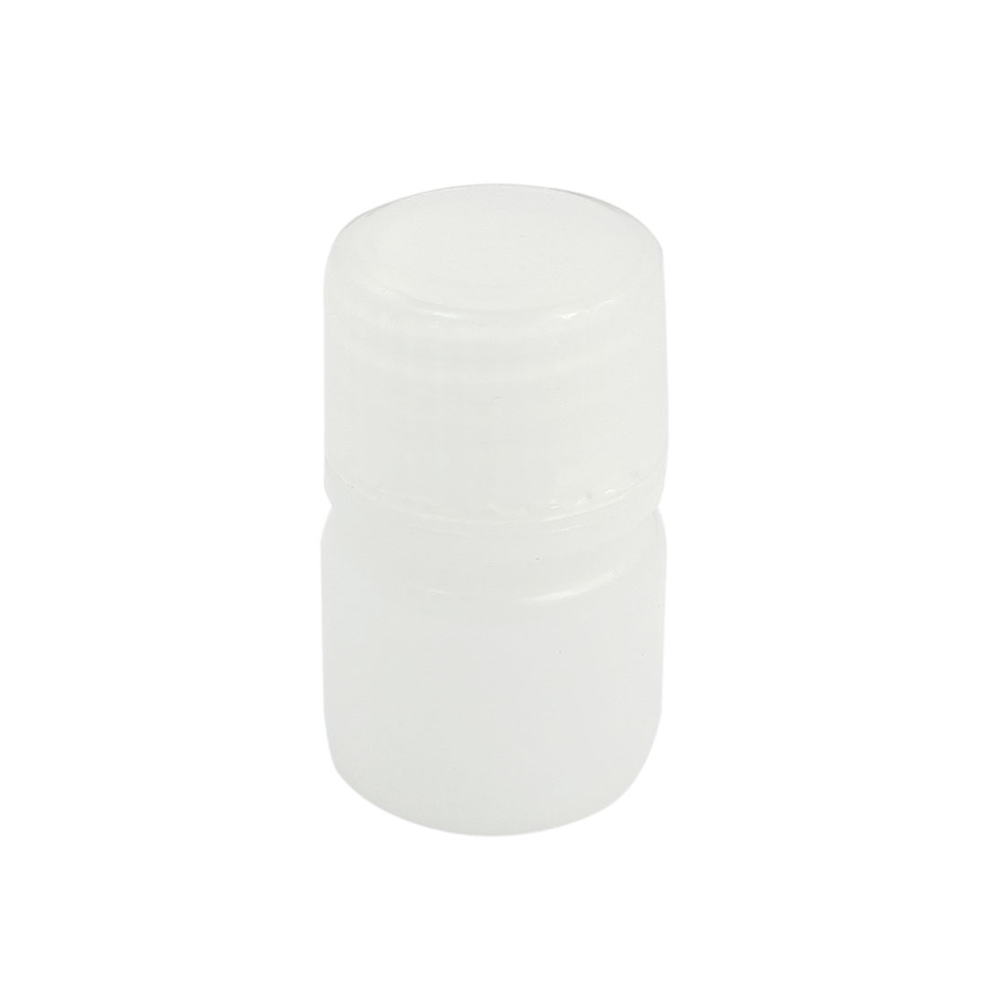 Plastic Screw Lid 5mL Chemicals Storage Container White Plastic Reagent Bottle