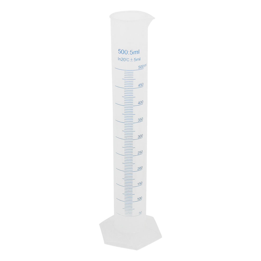 Lab Laboratory Test 36cm Height 500ml Transparent Plastic Graduated Cylinder Measuring Cup 5ml Tolerance