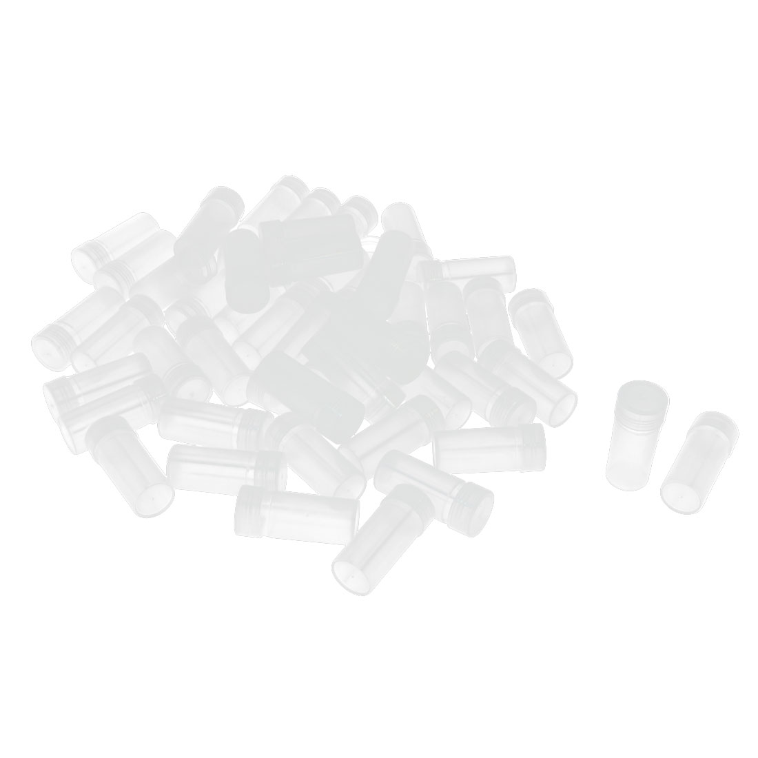 50Pcs Plastic Screw Lid Chemicals Storage Container Clear White Plastic Isotope Reagent Bottle
