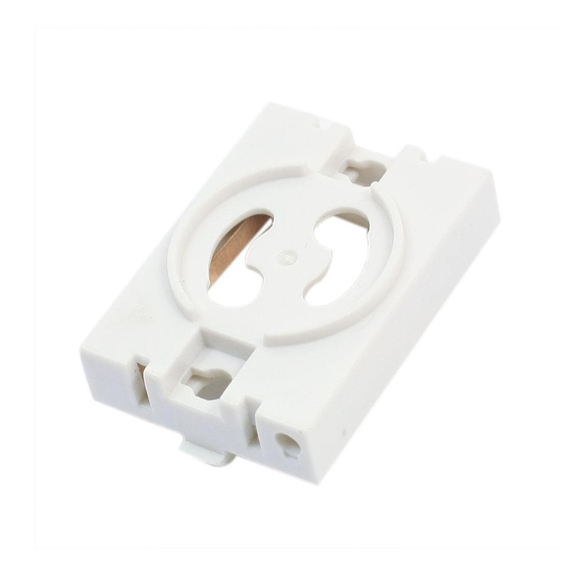 White Plastic T8 T10 Fluorescent Tube Bulb Lamp Holder Socket