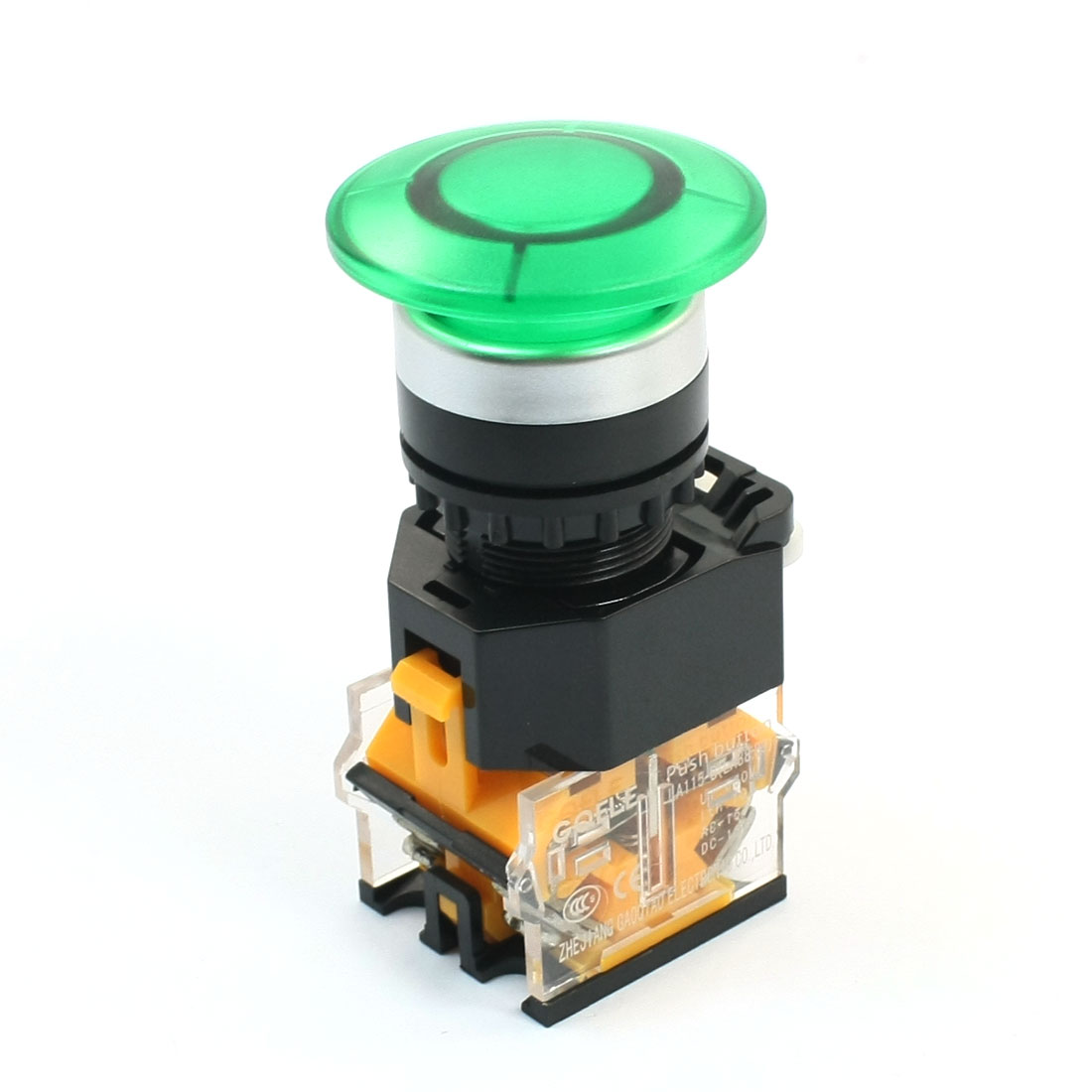 LA115B DPST Green Mushroom Head Momentary Push Button Switch 660V 10A