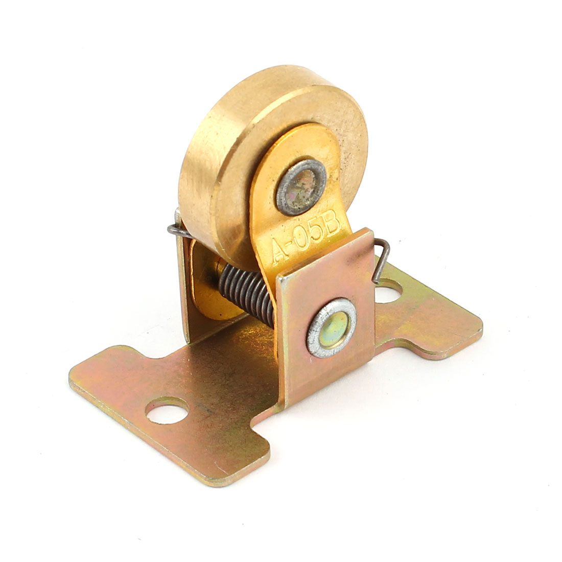 A-05B Gold Tone Brass 25mm Dia 42mm Height Two Way Conductive Wheel