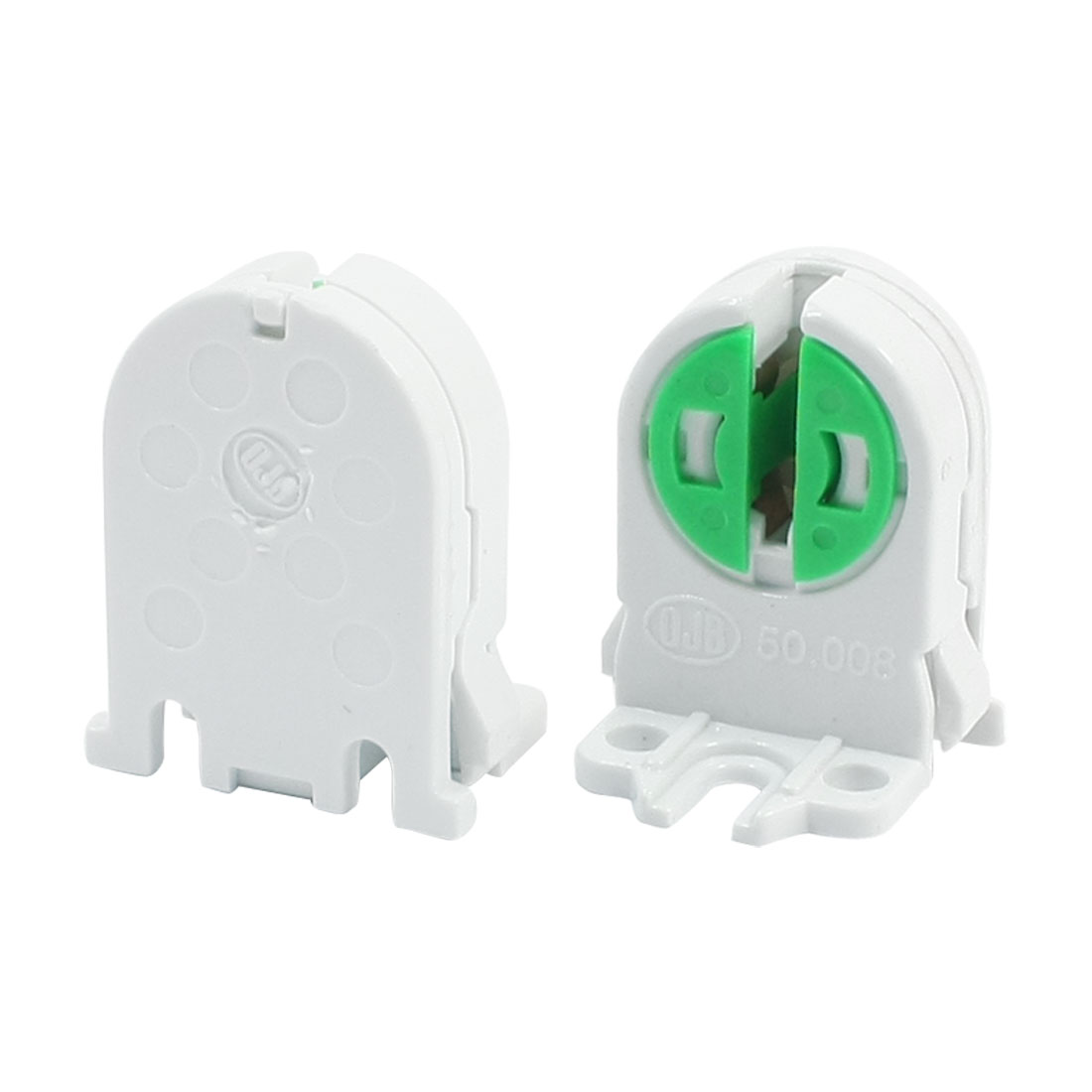 2Pcs Fluorescent Lamp Holder Sockets White for T5 T4 Tube Light