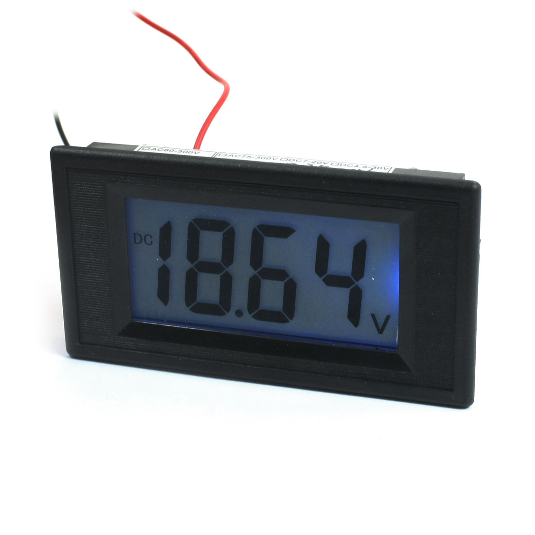 DC 3.5-20V Blue LCD Digital Volt 14cm Long 2 Wire Voltmeter YB5135D