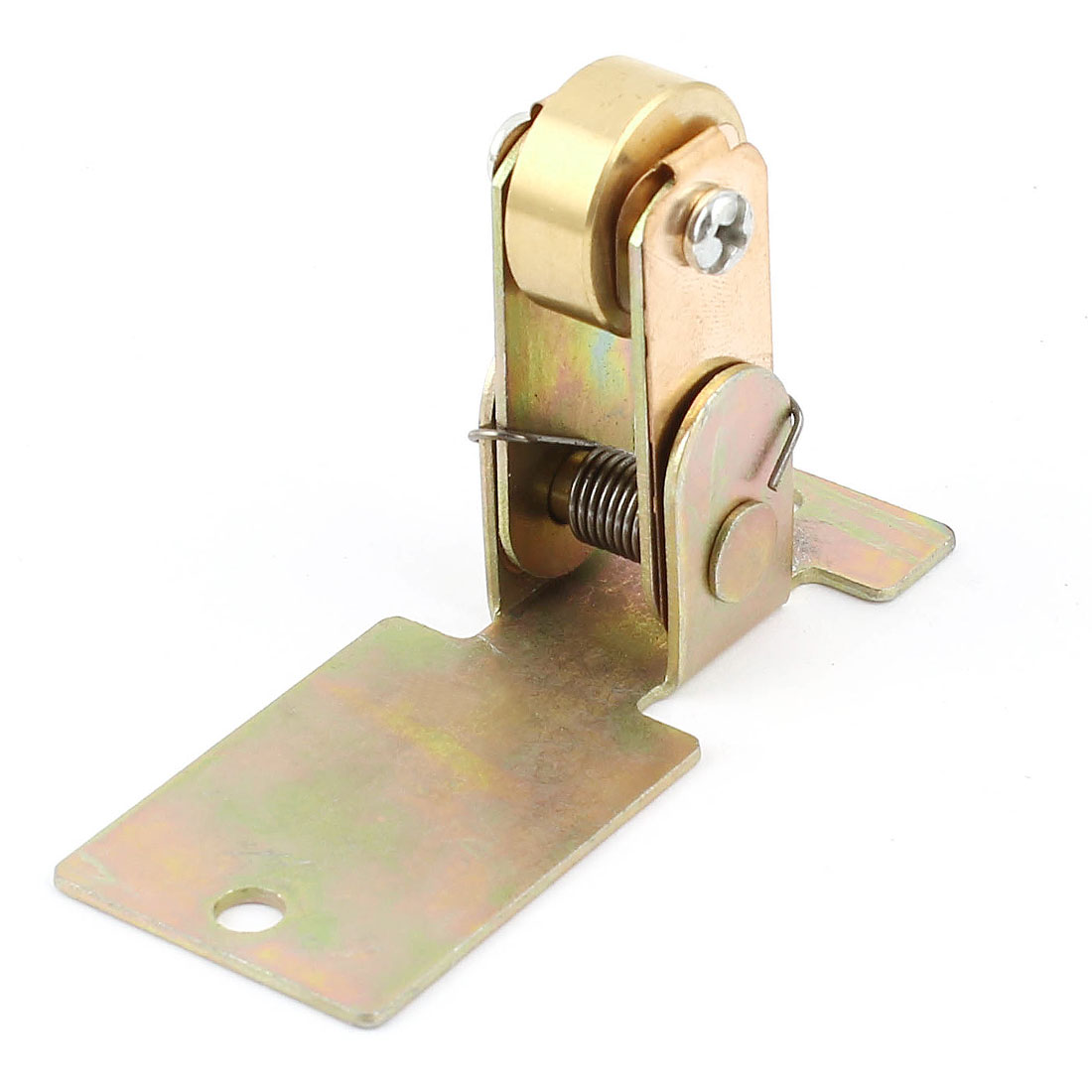 Brass 76x30mm Stand 5mm Hole Dia 20mm Two Way Conductive Wheel A-03B