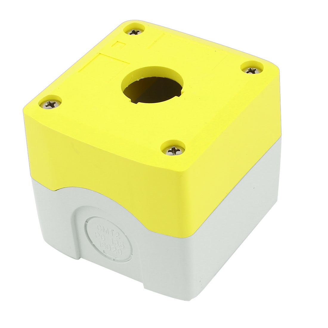Yellow Gray 22mm Panel Cutout Diameter Push Button Switch Control Box