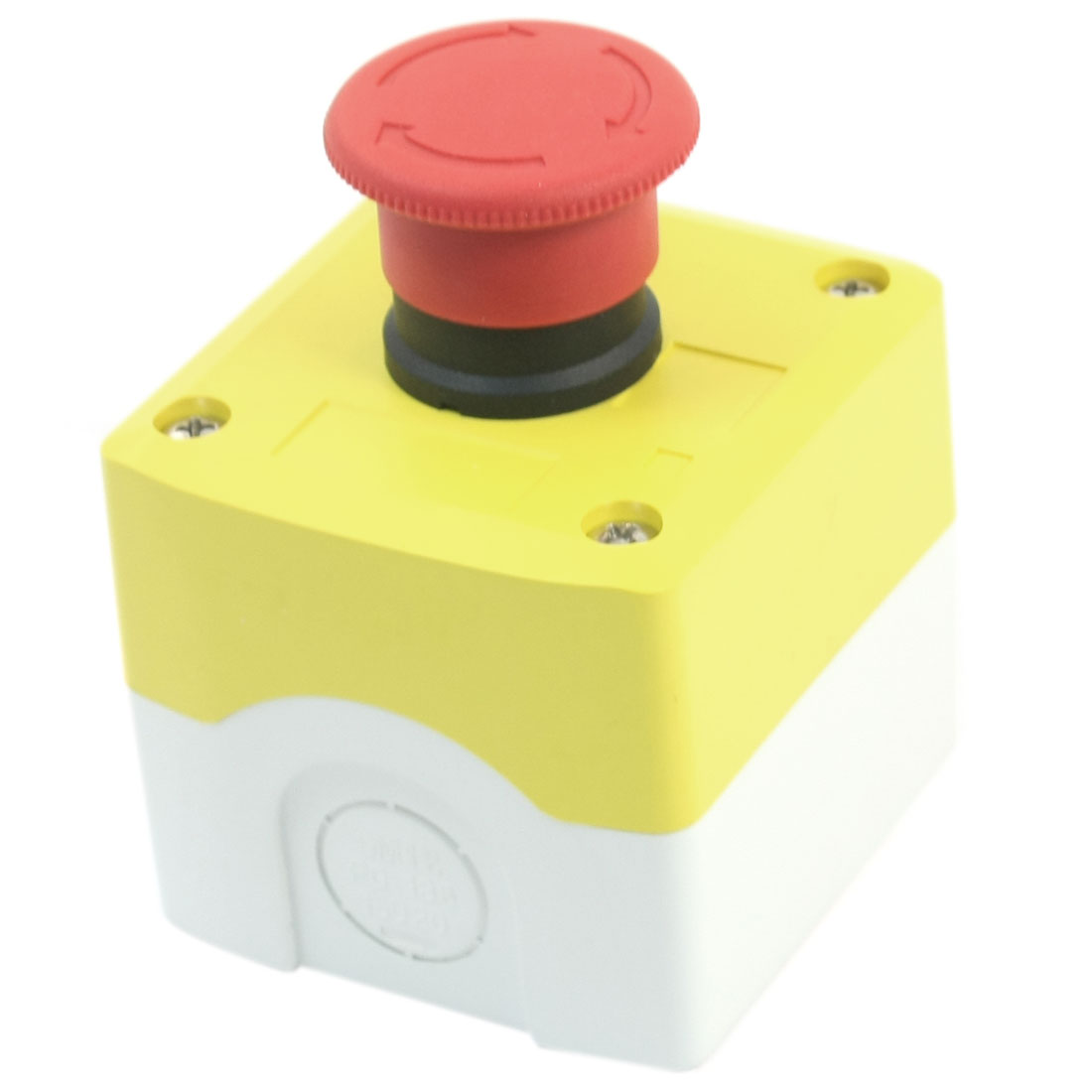 Emergency Stop Red Mushroom Head Latching SPST Switch w Box AC400V 10A