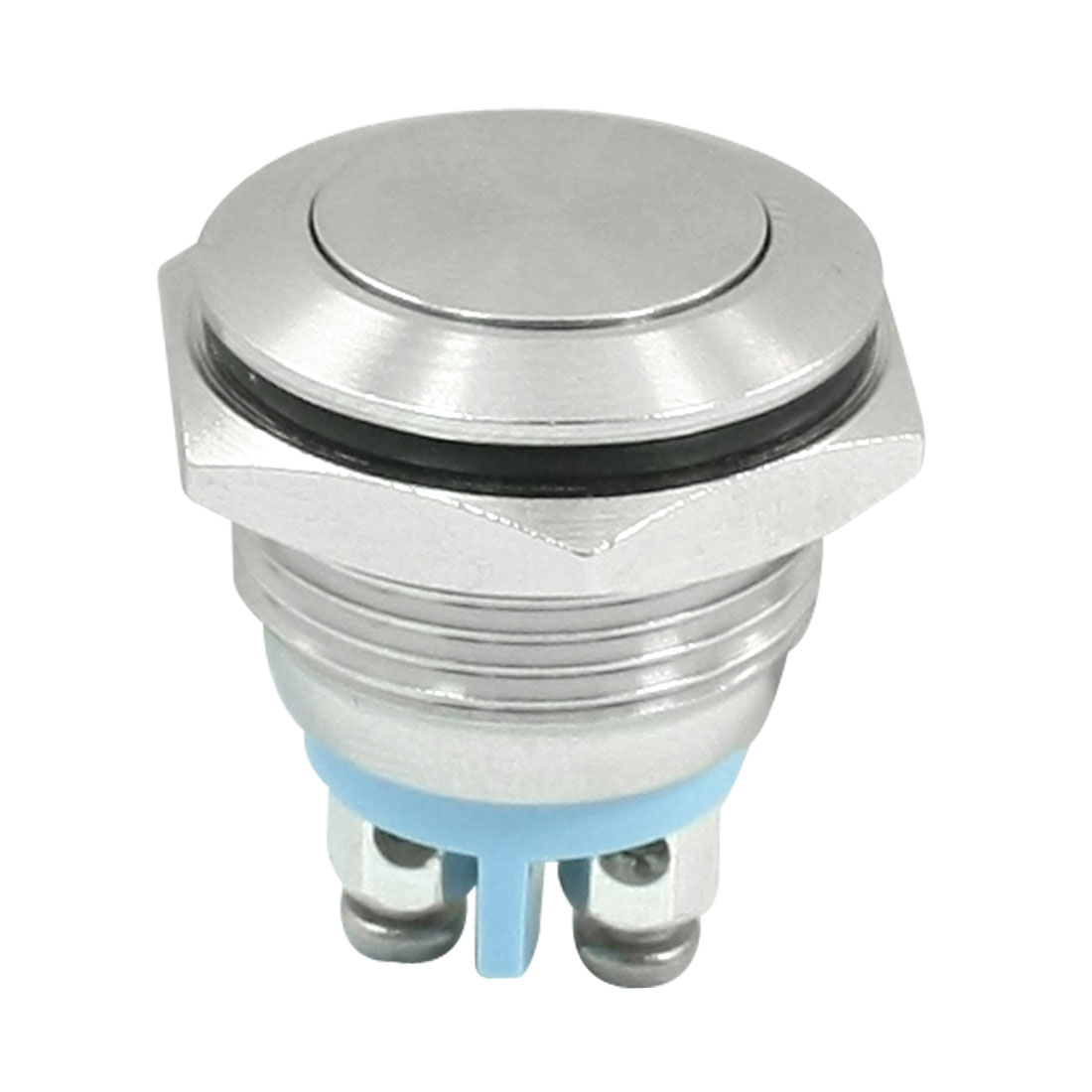 16mm Panel Cutout SPST Momentary Stainless Steel Push Button Switch
