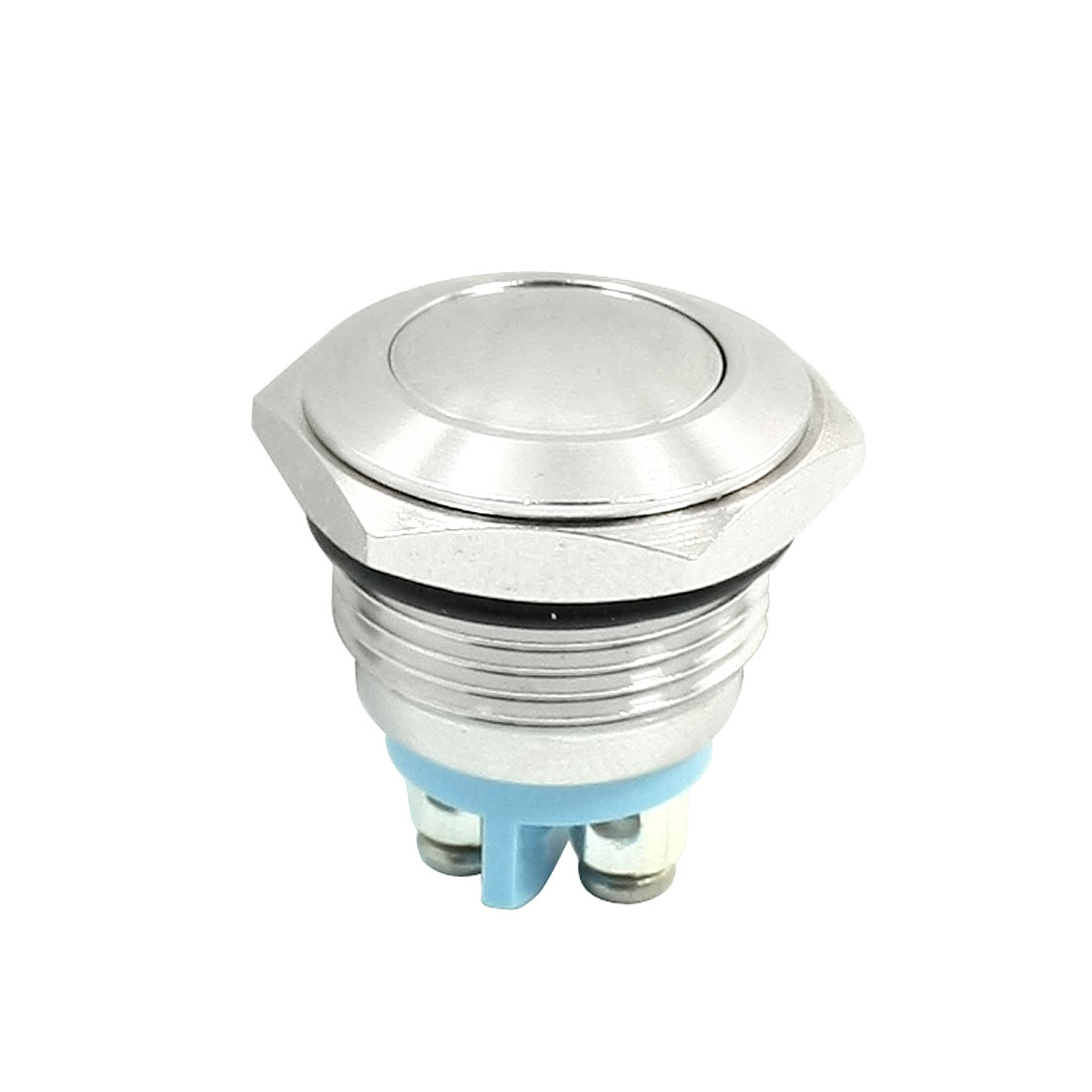 2-Screw Terminals 16mm Mounting SPST Momentary Metal Pushbutton Switch