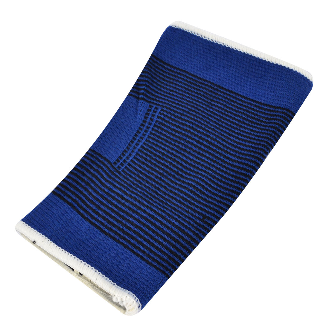 Outdoor Sport Pinstripe Pullover Wearing Elastic Knee Support Protector Sleeve Blue Black