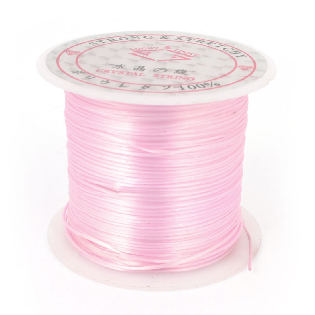 Stretchy Crystal Jewelry Beading String Cord Spool Pink