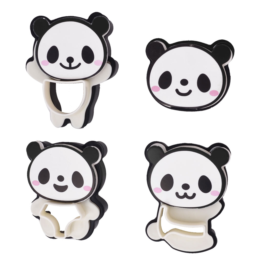4 Pcs Kitchen Craft Panda Design Food Cookie Cake Cutter Mold