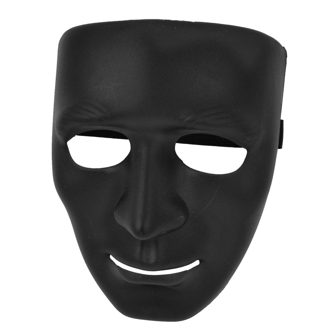 Airsoft War Game Black Plastic Full Face Plain Mask for Man